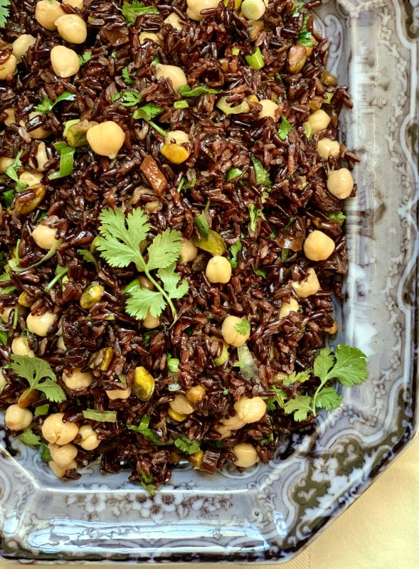 Moroccan Forbidden Rice Salad via LizsHealthyTable.com