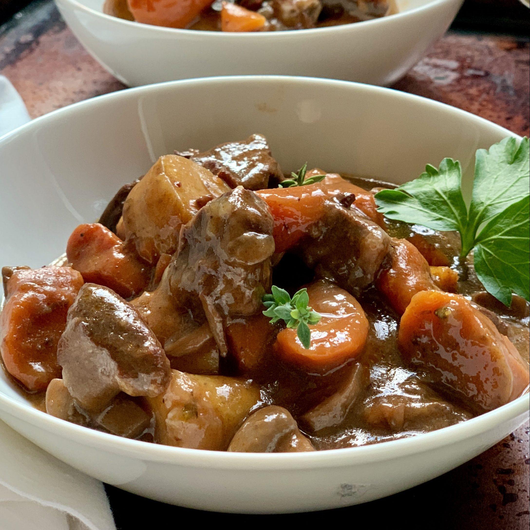 Instant Pot Beef Bourguignon Recipe
