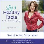 Liz's Healthy Table Podcast Episode #70: New Nutrition Facts Label with Bonnie Taub-Dix, MA, RDN (with special guest, Amy Cohn, RDN)