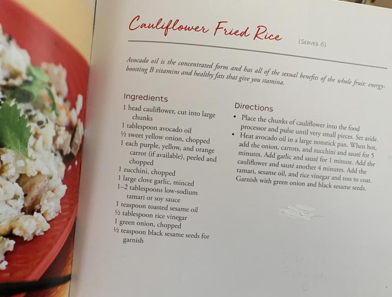 Cauliflower Fried Rice via lpzshealthytable.com