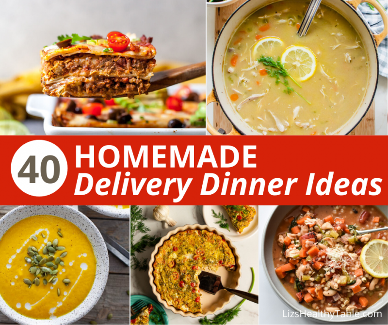 Delivery Dinner Ideas via LizsHealthyTable.com #quarantinekitchen