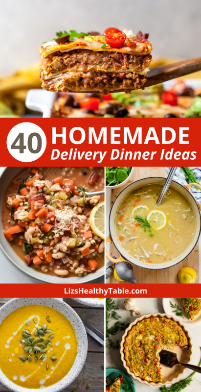 40 Homemade Delivery Dinners from Registered Dietitians #quarantinekitchen via LizsHealthyTable.com