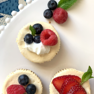 Cheesecake Cupcakes with Oat & Walnut Crust | Gluten Free