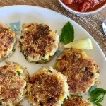 Veggie Bean Cakes with Quick Tomato Basil Sauce | Comfort Food for Your Family
