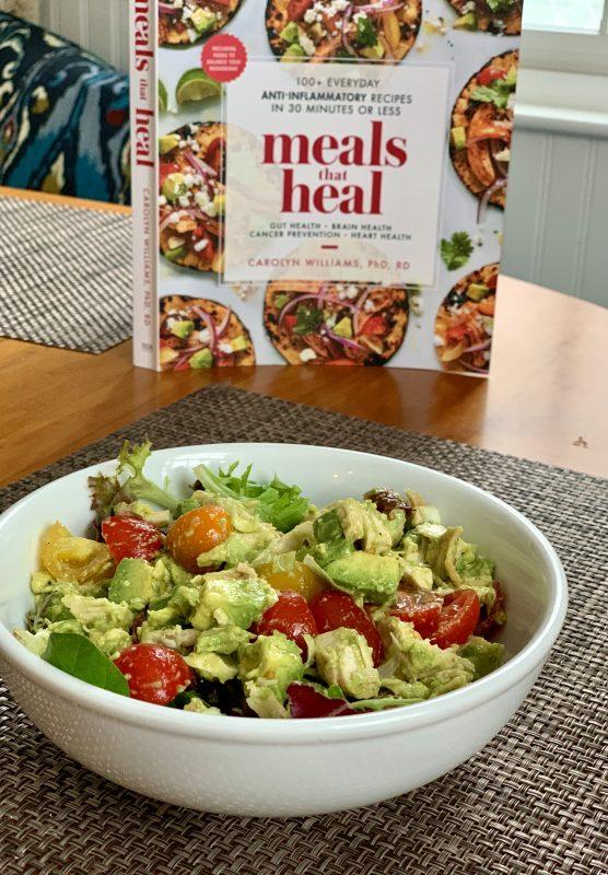 Avocado-Chicken Salad via lizshealthytable.com