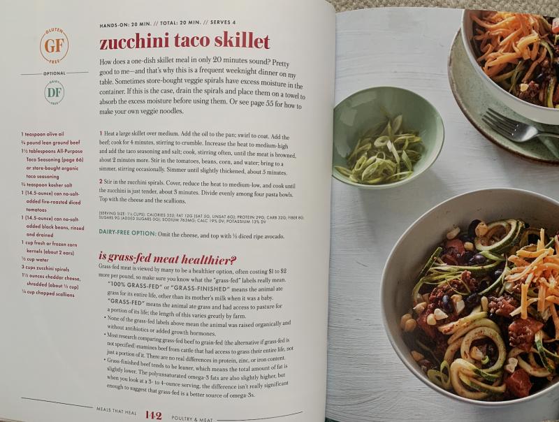 Zucchini Taco Skillet via lizshealthytable.com
