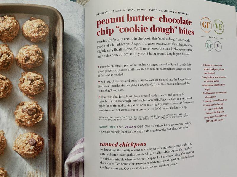 Peanut Butter Chocolate Chip Cookie Dough Bites via lizshealthytable.com