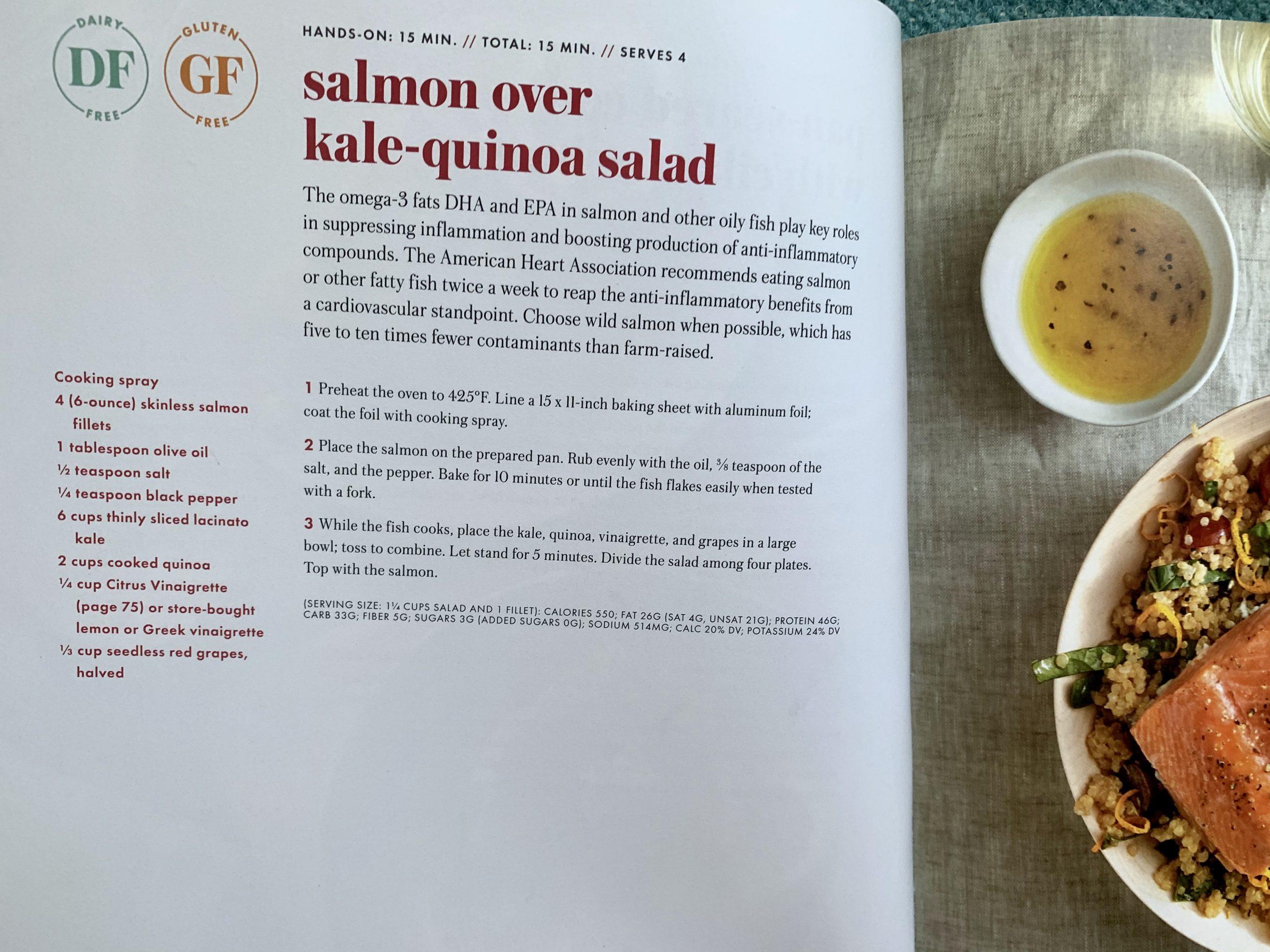 Salmon quinoa salad via lizshealthytable.com