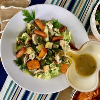 Chicken and Carrot Shawarma Salad Bowls