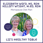Liz's Healthy Table Podcast Episode #82: Menopause Diet Plan with Elizabeth Ward, MS, RDN and Hillary Wright, M.Ed, RDN