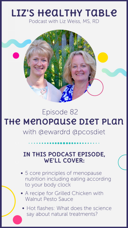 The Menopause Diet Plan via lizshealthytable.com #podcast