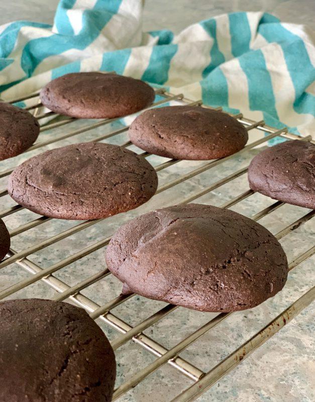 Gluten Free Chocolate Pumpkin Whoopie Pies via lizshealthytable.com #glutenfree