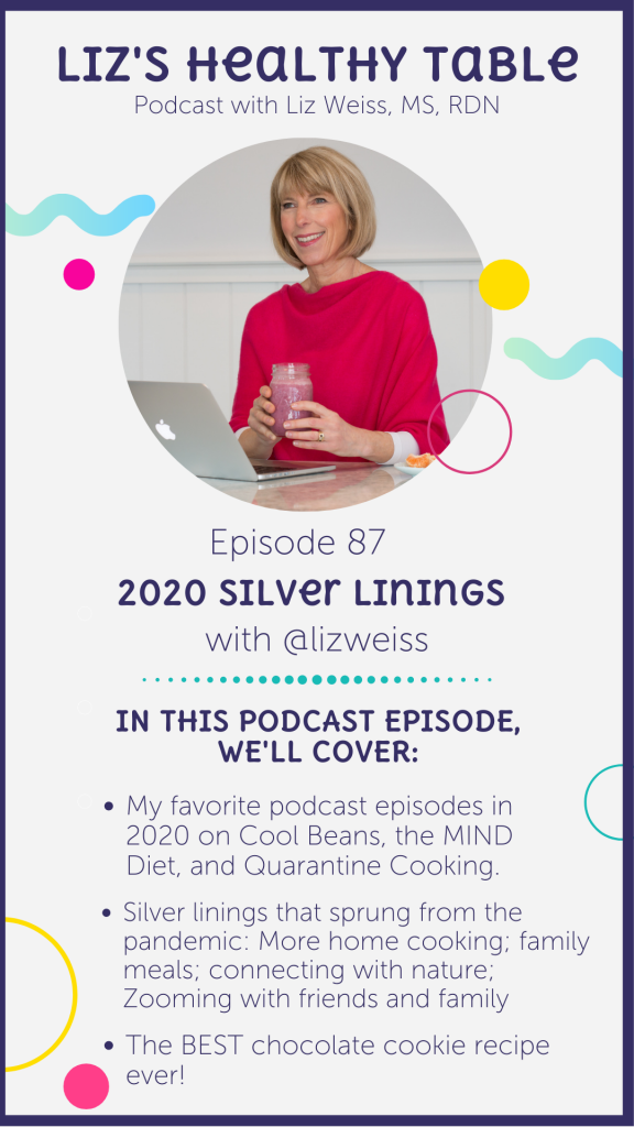 Silver linings in 2020 via lizshealthytable.com #podcast