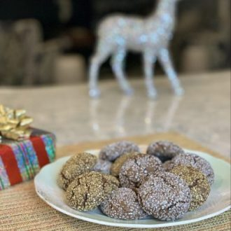 Gluten-Free Chocolate, Orange & Almond Sparkle Cookies | Adding Joy to Holiday Baking