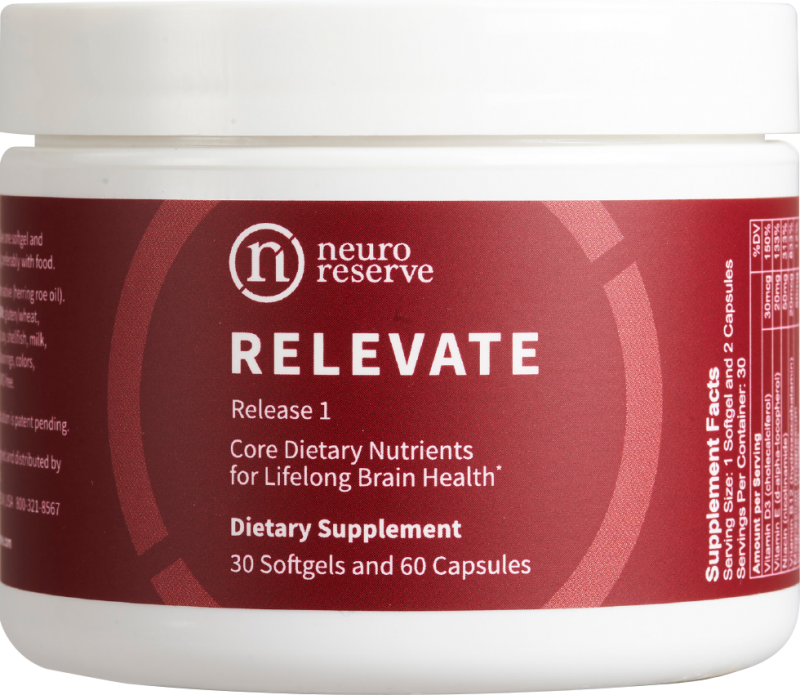 NeuroReserve Relevate dietary supplement via lizshealthytable.com