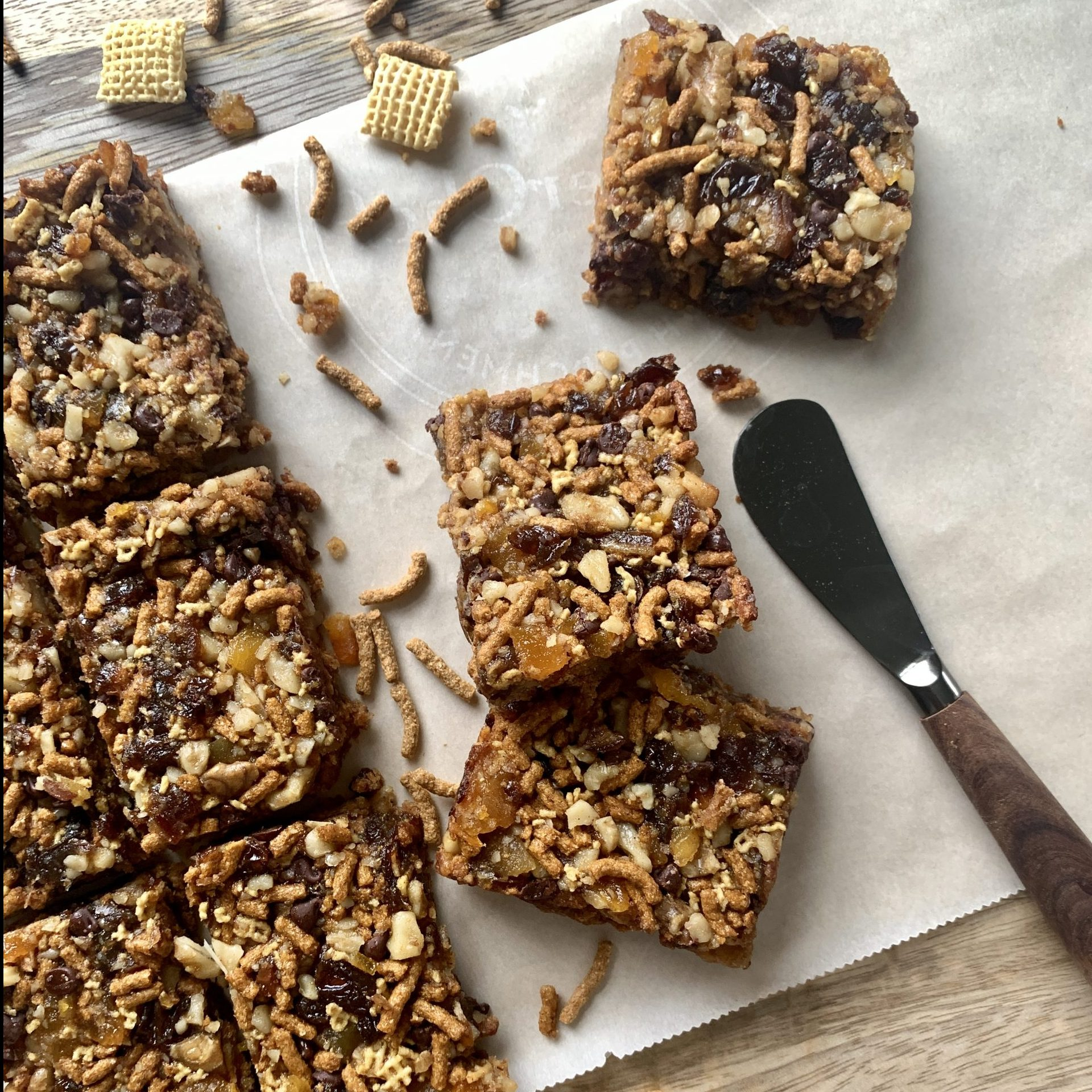 Homemade Fiber One Cereal Bars With Walnuts And Dried Fruit