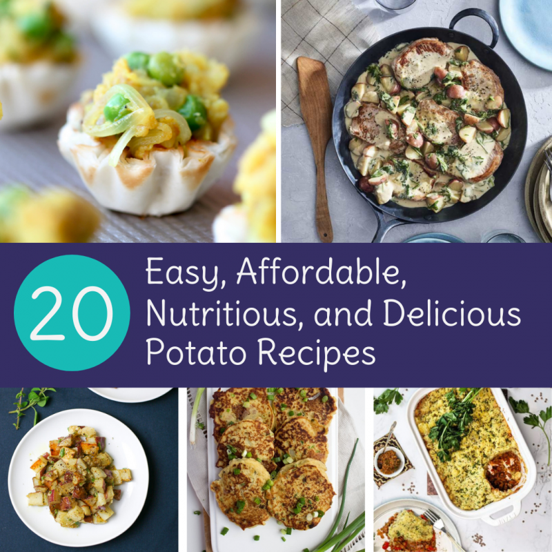 20 Potato Recipes | Easy, Affordable, Nutritious, and Delicious via LizsHealthyTable.com