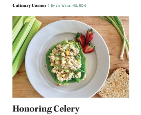 Honoring Celery (Byline: Today's Dietitian magazine)
