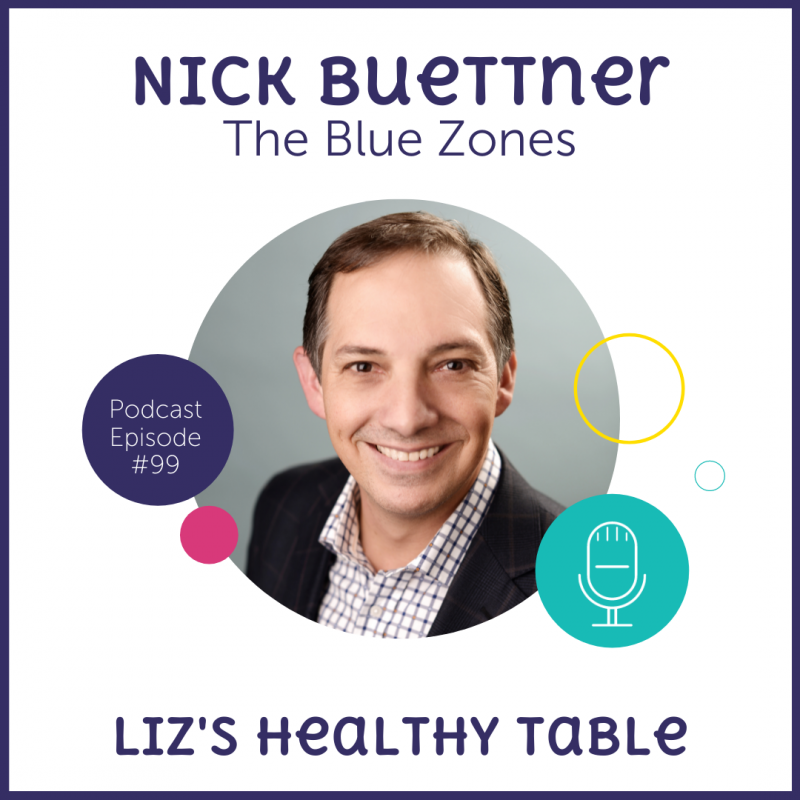 The Blue Zones with Nick Buettner via lizshealthytable.com