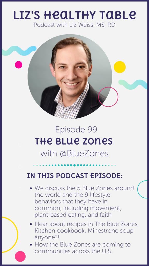 The Blue Zones via lizshealthytable.com
