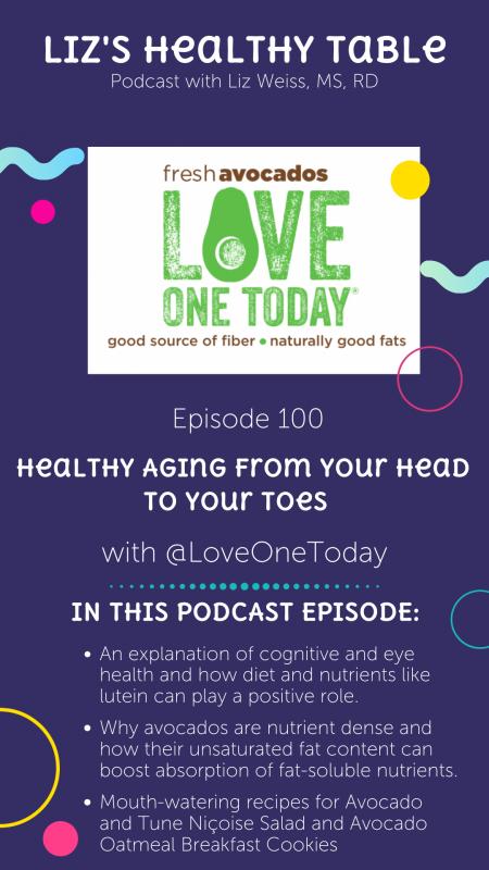 healthy aging podcast via lizshealthytable.com