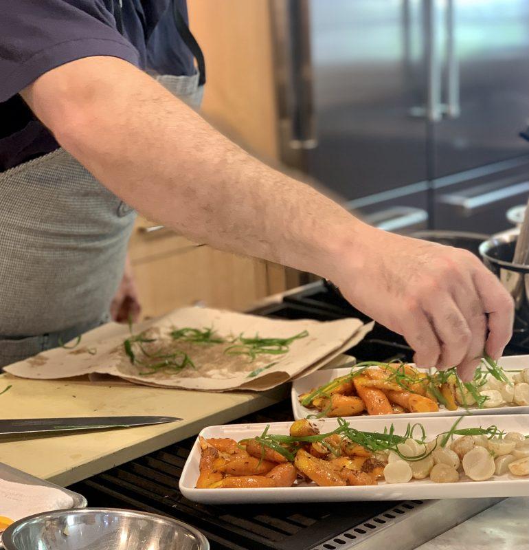 Nantucket Farmers' Market and the Corner Table - cooking vegetables via lizshealthytable.com