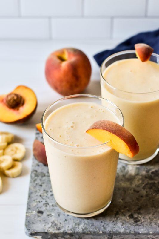 34 Peach Recipes for National Peach Month via lizshealthytable.com #peaches #nutrition