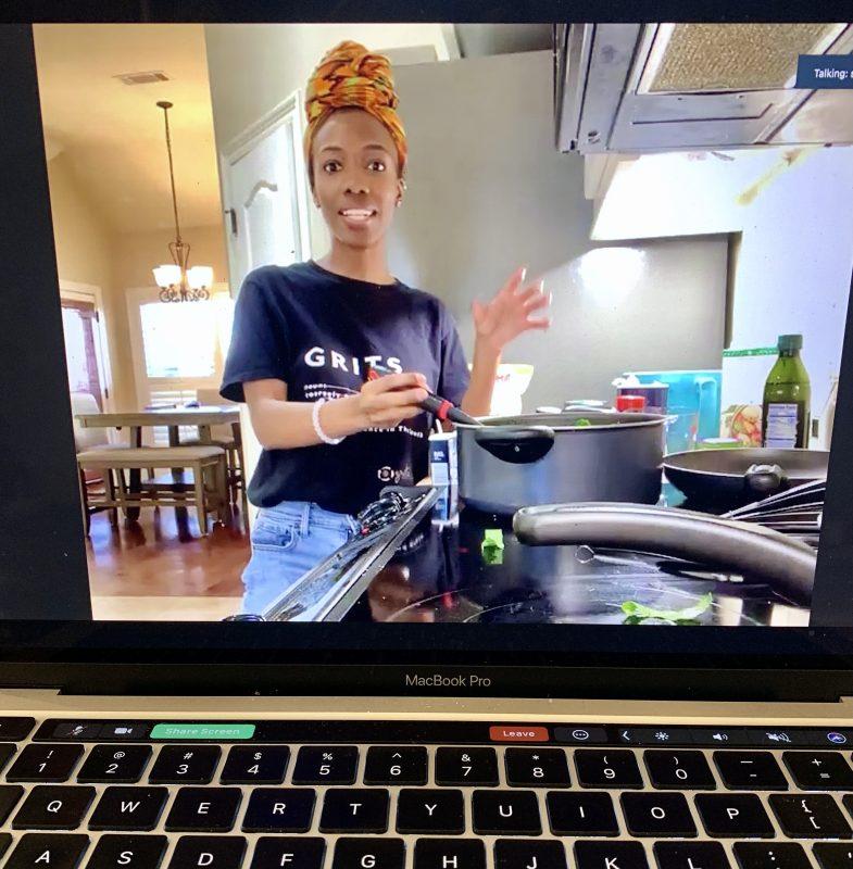 Sadé Meeks cooks during Culinary Nutrition Collaborative