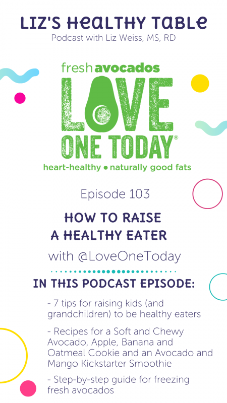 Liz's Healthy Table Podcast Episode 103: How to Raise a Healthy Eater