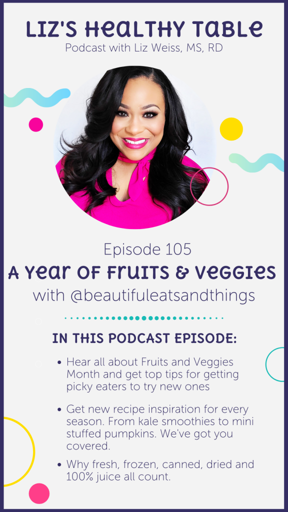 A Year of Fruits and Vegetables via lizshealthytable.com #podcast